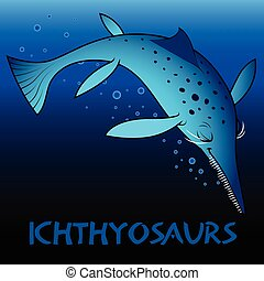 ichthyosaurs, schattig, dinosaurussen