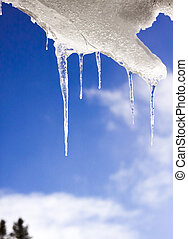 Icicle against Blue Sky