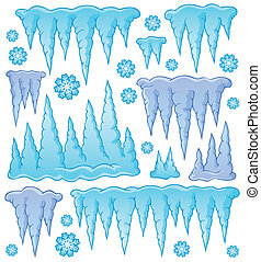 Icicle theme image 1 - eps10 vector illustration.