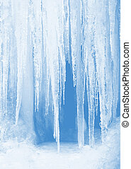 Icicles - Feel the coldness of winter with a frozen frosty...