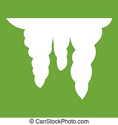 Icicles icon green