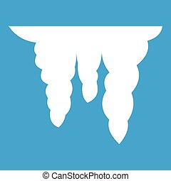 Icicles icon white