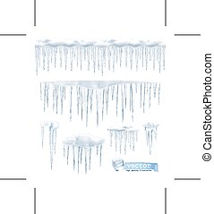 Icicles on white - Icicles, isolated on white background