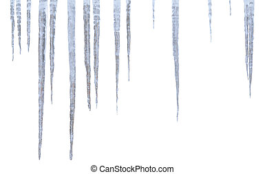 icicles over the white background