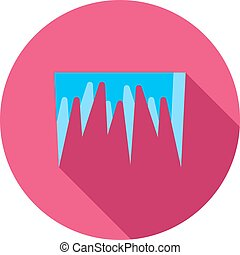 Icicles, snow, ice icon vector image. Can also be used for ...