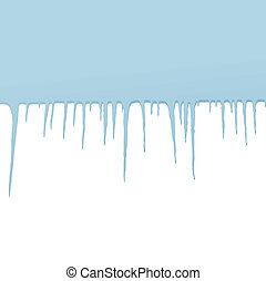 Icicles vector background for poster