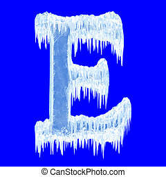 Icing alphabet. Letter E. Upper case. With clipping path