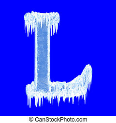 Icing alphabet. Letter L. Upper case. With clipping path