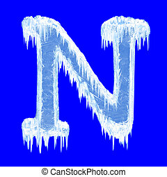 Icing alphabet. Letter N. Upper case. With clipping path