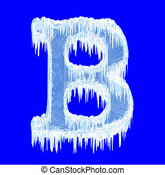 Icing alphabet. Letter B. Upper case. With clipping path