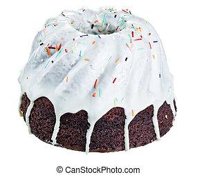Pound cake - Icing Pound cake isolated on white