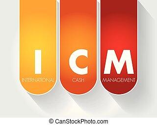 ICM - International Cash Management acronym, business...