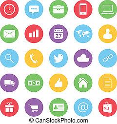 ico, colorido, empresa / negocio, ecommerce