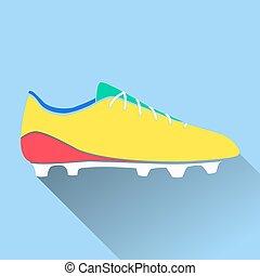 ico, obuwie, piłka nożna, ilustracja, amerykanka, wektor, czyścibut, piłka nożna
