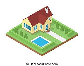 icometric house icon