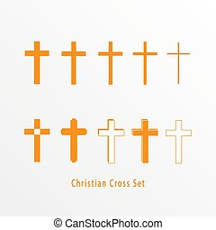icon., állhatatos, keresztény, kereszt
