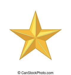 icon., étoile, or