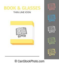 icon., βιβλίο , λεπτός , αμυντική γραμμή