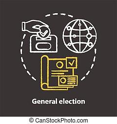 icon., εκλεκτός , δημόσιο , parties., chalkboard , idea., γενική ιδέα , ψηφοφορία , αποφασίζω , referendum, decision., illustration., κιμωλία , απομονωμένος , αρχαιρεσίες , πολιτικός , γενικός , εκλογή , υποψήφιες , μικροβιοφορέας