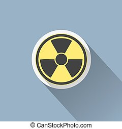 icon., σήμα , ακτινοβολία , σύμβολο. , κίνδυνοs