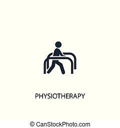 icon., используемый, просто, символ, illustration., можно, концепция, быть, физиотерапия, design., web, элемент