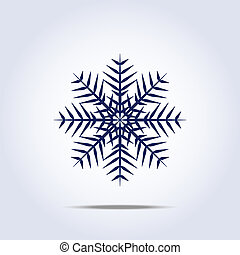 icon., וקטור, פתיתת שלג, דוגמה