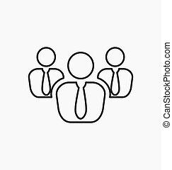 icon., グループ, シンボル, ビジネス チーム