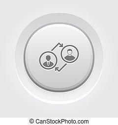icon., コーチ, 概念, ビジネス