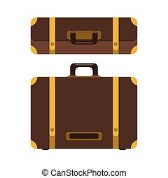 icon., セット, スーツケース