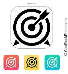 icon., ターゲット, 矢
