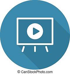 icon., ビデオ, プレゼンテーション, ビジネス