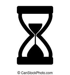 icon., ベクトル, シルエット, イラスト, 砂時計