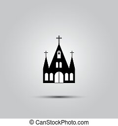 icon., ベクトル, 教会