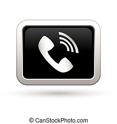 icon., ベクトル, 電話, イラスト