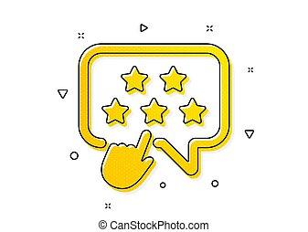 icon., ベクトル, rank., クリック, 星, ブランド, 印。, ランキング, 評価, 大使