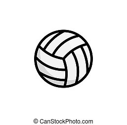icon., ボール, 平ら, 単純である, ベクトル, アイコン, vollyeball, ボレー, ロゴ
