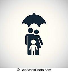 icon., 傘, 保険, 家族