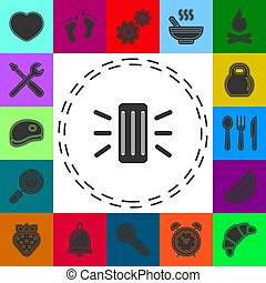 icon., 助手, 痛みなさい, 要素, 概念, 単純である, 線