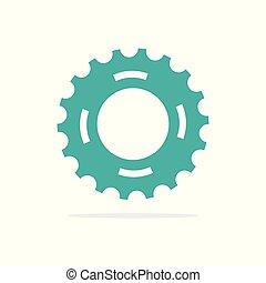 icon., 矢量, 设计, 齿轮