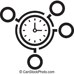 icon., 管理, concept., ビジネス, 時間