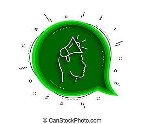 icon., 線, ベクトル, device., 広告, ブランド, 印。, メガホン, 大使
