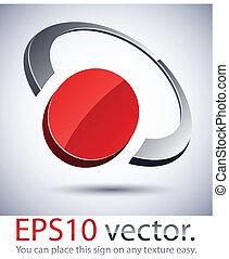 icon., 3d, logotipo, modernos, anel