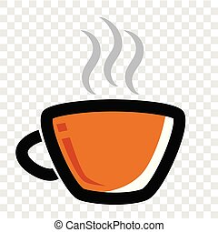 Icon, a Cup of Hot Drink at transparent effect background