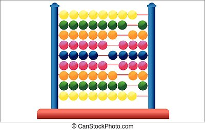 Icon abacus for mathematical calculations