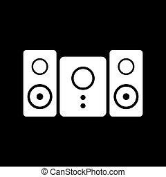 icon., altoparlante stereo, sistema