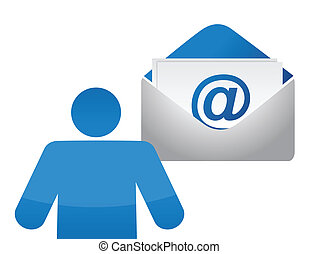 icon and email envelope