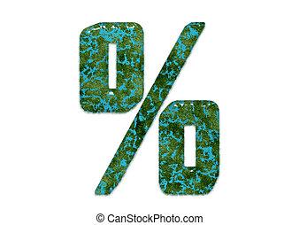 % icon aqua blue