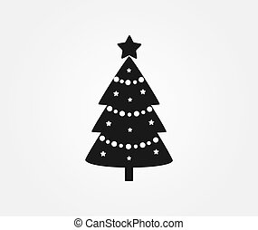 icon., arbre noël