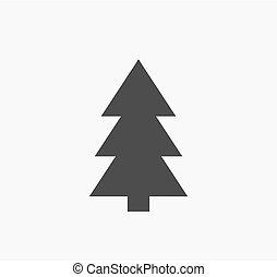 icon., arbre, noël