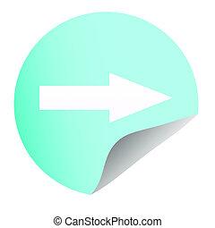 icon arrow on blue background